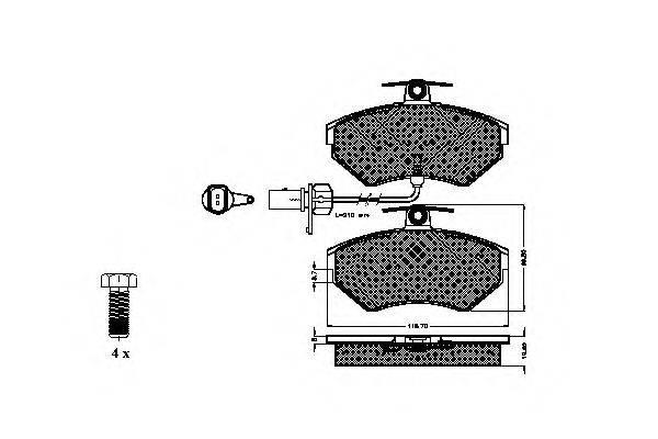 SPIDAN 32712 Комплект тормозных колодок, дисковый тормоз