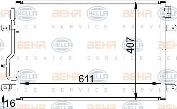 BEHR HELLA SERVICE 8FC351300241 Конденсатор, кондиционер