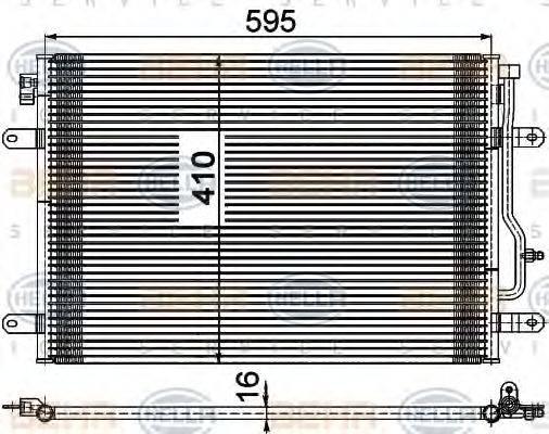 BEHR HELLA SERVICE 8FC351309481 Конденсатор, кондиционер