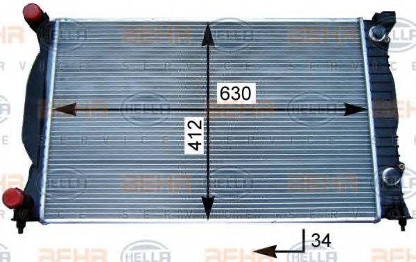 BEHR HELLA SERVICE 8MK376717231 Радиатор, охлаждение двигателя