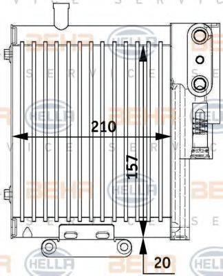 BEHR HELLA SERVICE 8MO376729591 Масляный радиатор, автоматическая коробка передач