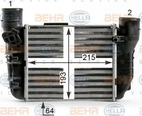 BEHR HELLA SERVICE 8ML376900371 Интеркулер