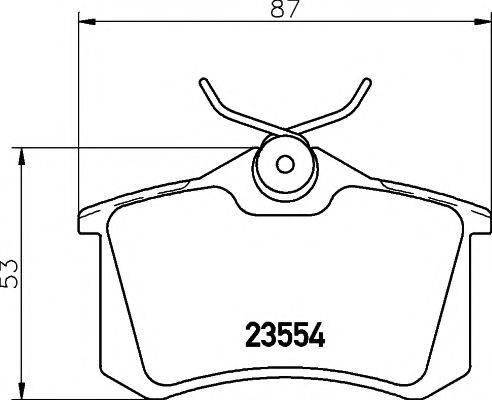 PAGID T5022 Комплект тормозных колодок, дисковый тормоз