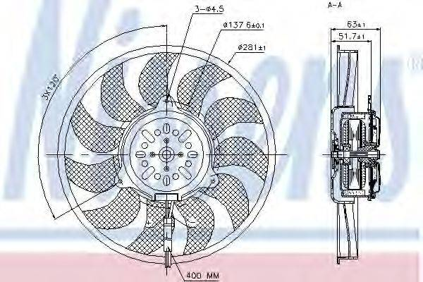 NISSENS 85731 Вентилятор, охлаждение двигателя