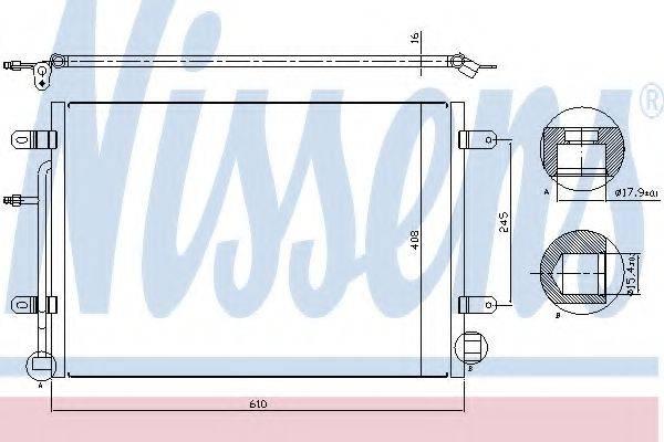 NISSENS 94851 Конденсатор, кондиционер