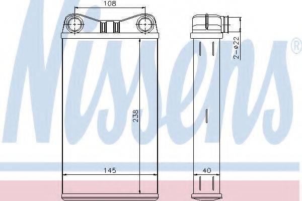 NISSENS 70227 Теплообменник, отопление салона