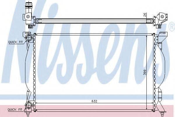 NISSENS 60304A Радиатор, охлаждение двигателя