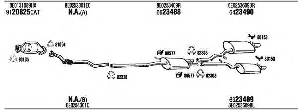WALKER ADH17146 Система выпуска ОГ