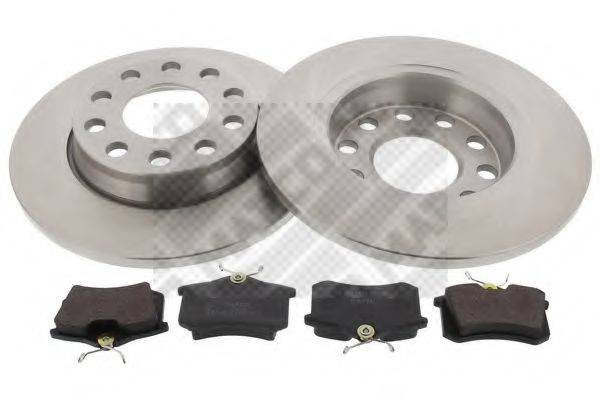 MAPCO 47903 Комплект тормозов, дисковый тормозной механизм