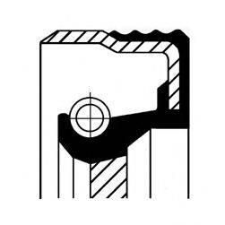 Уплотняющее кольцо, коленчатый вал; Уплотняющее кольцо, ступенчатая коробка передач; Уплотняющее кольцо вала, автоматическая коробка передач CORTECO 01020045B