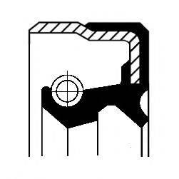 Уплотняющее кольцо, дифференциал; Уплотняющее кольцо, раздаточная коробка CORTECO 01020042B