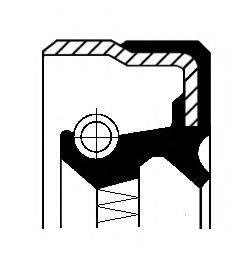 Уплотняющее кольцо, ступица колеса CORTECO 01026327B
