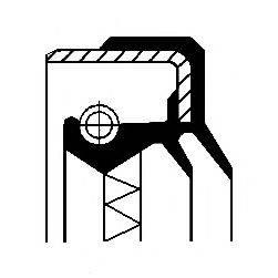 Уплотняющее кольцо, ступица колеса CORTECO 01031066B