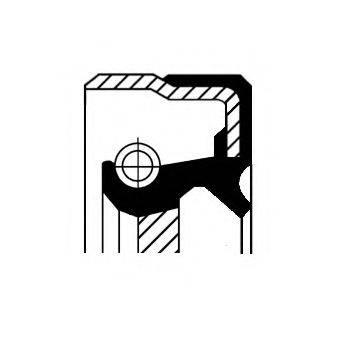 Уплотняющее кольцо вала, автоматическая коробка передач CORTECO 01035821B
