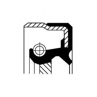 Уплотняющее кольцо, ступенчатая коробка передач; Уплотняющее кольцо, раздаточная коробка CORTECO 01019482B