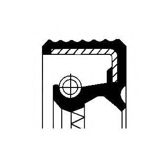 Уплотняющее кольцо, ступенчатая коробка передач; Уплотняющее кольцо вала, автоматическая коробка передач; Уплотняющее кольцо, дифференциал CORTECO 01034076B
