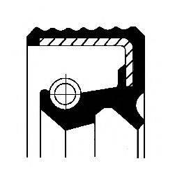 Уплотняющее кольцо, ступенчатая коробка передач; Уплотняющее кольцо, дифференциал CORTECO 01019317B