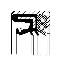 Уплотняющее кольцо, ступенчатая коробка передач; Уплотняющее кольцо, дифференциал; Уплотняющее кольцо, раздаточная коробка CORTECO 01033861B