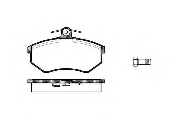 Комплект тормозных колодок, дисковый тормоз REMSA 0134.00