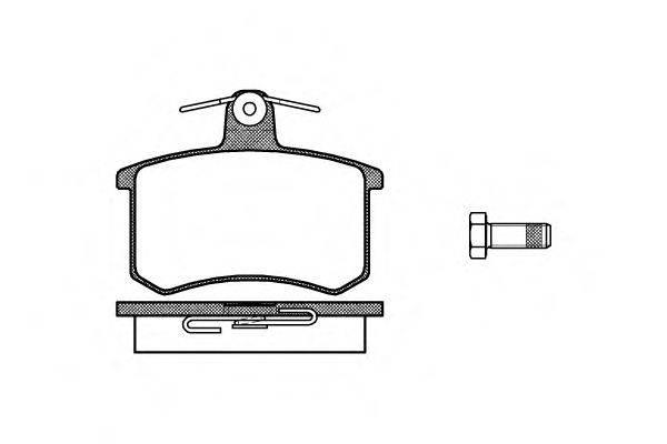 Комплект тормозных колодок, дисковый тормоз REMSA 0135.00