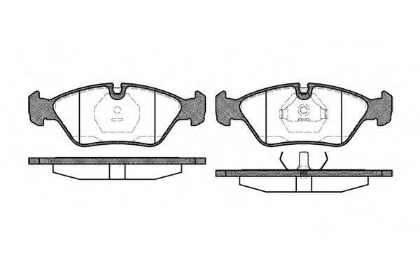 Комплект тормозных колодок, дисковый тормоз REMSA 0139.00