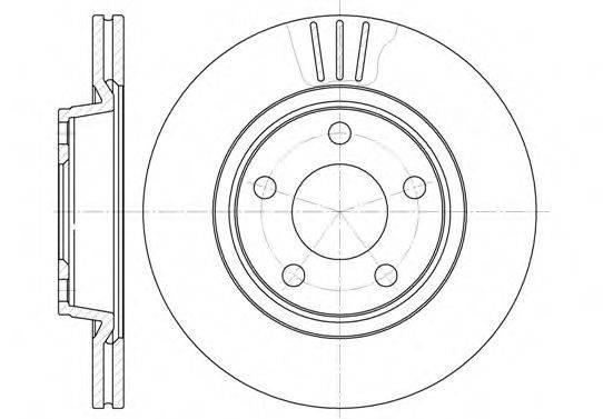 REMSA 654810 Тормозной диск