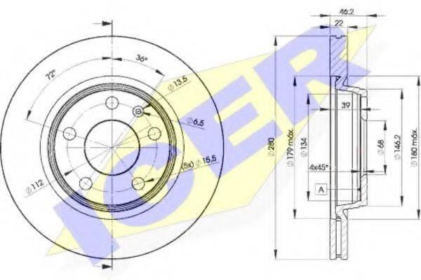 ICER 78BD53012 Тормозной диск