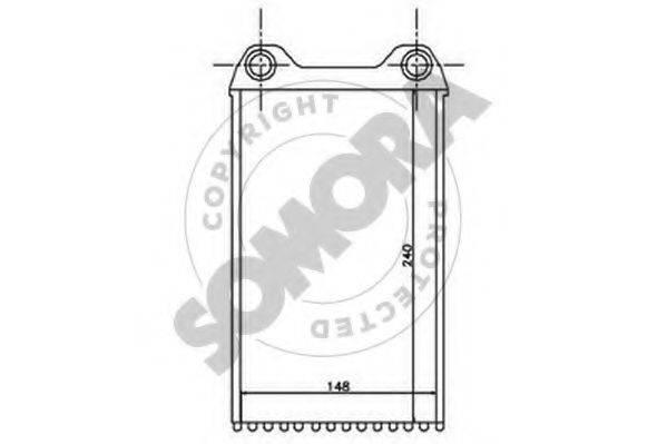 SOMORA 021550 Теплообменник, отопление салона