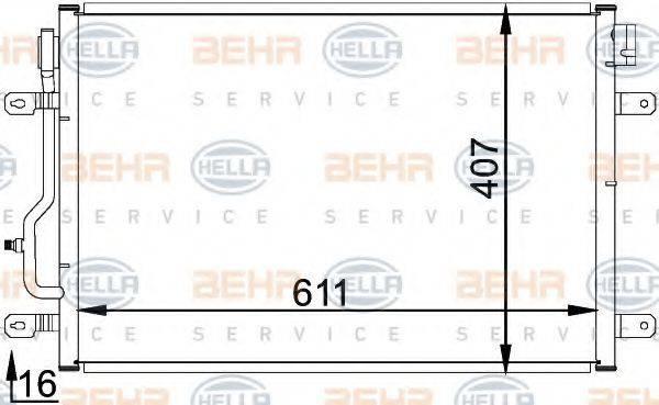 HELLA 8FC351300241 Конденсатор, кондиционер