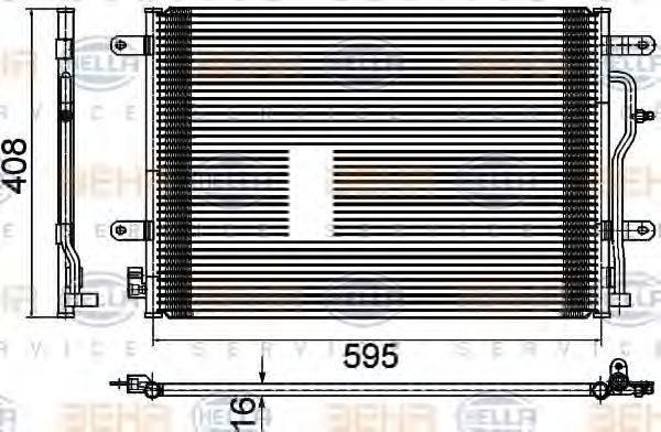 HELLA 8FC351309471 Конденсатор, кондиционер