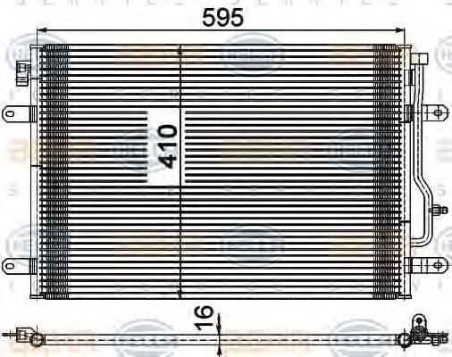 HELLA 8FC351309481 Конденсатор, кондиционер