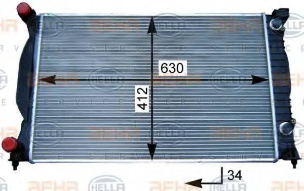 HELLA 8MK376717231 Радиатор, охлаждение двигателя