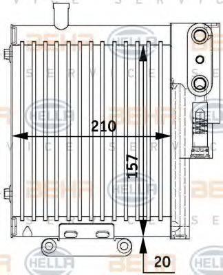 HELLA 8MO376729591 Масляный радиатор, автоматическая коробка передач