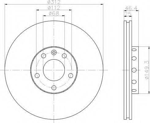 HELLA 8DD355107511 Тормозной диск