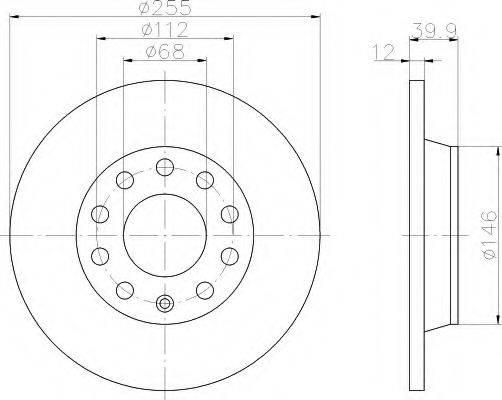 HELLA 8DD355107561 Тормозной диск