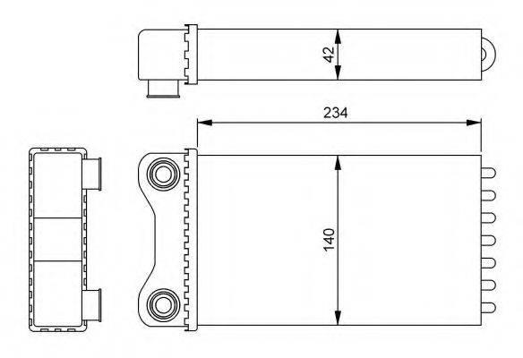 NRF 54252 Теплообменник, отопление салона