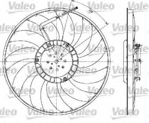 VALEO 698610 Вентилятор, охлаждение двигателя