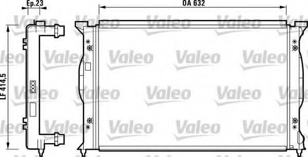 VALEO 732839 Радиатор, охлаждение двигателя