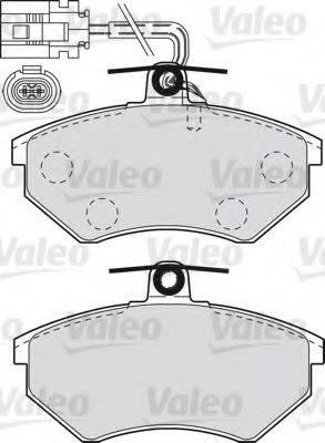 VALEO 598484 Комплект тормозных колодок, дисковый тормоз
