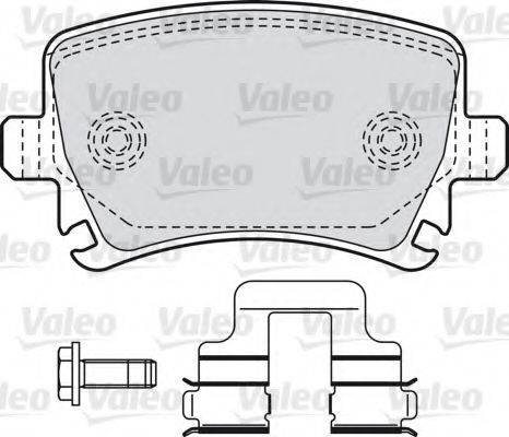 VALEO 598752 Комплект тормозных колодок, дисковый тормоз