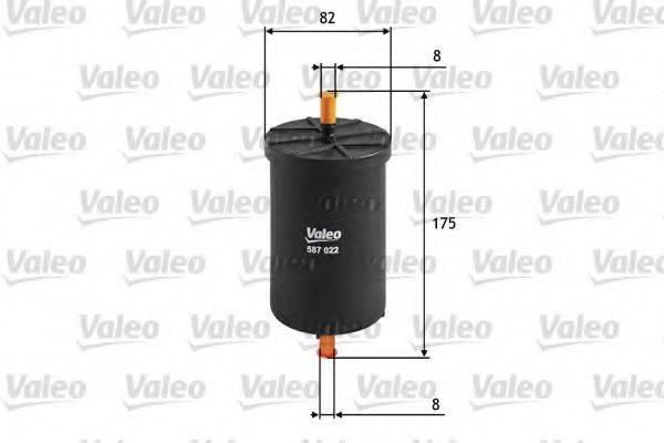 VALEO 587022 Топливный фильтр