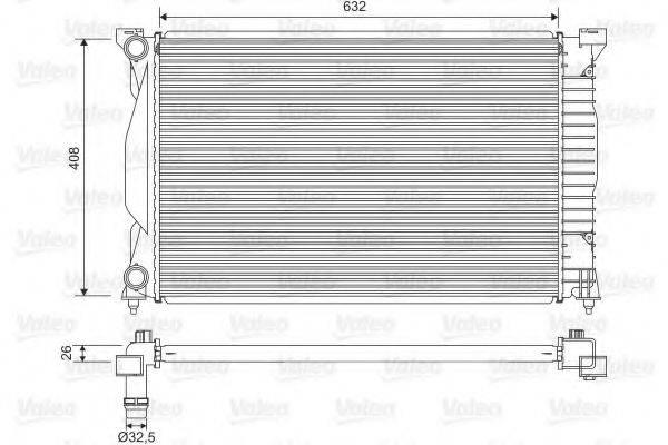 VALEO 734269 Радиатор, охлаждение двигателя