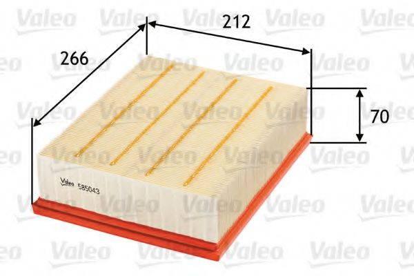 VALEO 585043 Воздушный фильтр