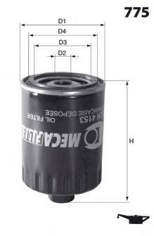 MECAFILTER ELH4412 Масляный фильтр