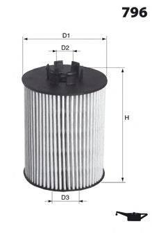 MECAFILTER ELH4430 Масляный фильтр