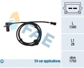 FAE 78083 Датчик, частота вращения колеса
