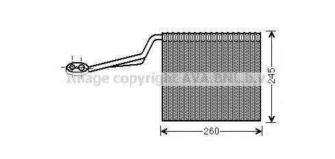 AVA QUALITY COOLING AIV322 Испаритель, кондиционер