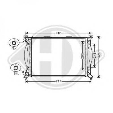 DIEDERICHS 8101705 Радиатор, охлаждение двигателя