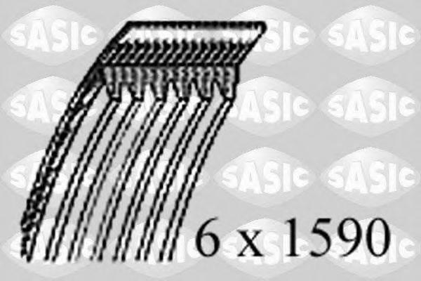 SASIC 1770106 Поликлиновой ремень