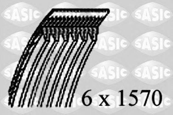 SASIC 1776076 Поликлиновой ремень